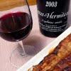 鰻とワイン  クローズ・エルミタージュ・ルージュ 2003 ダール・エ・リボ