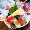 海鮮丼とかき土手煮定食  岡崎魚市場食堂 平の屋