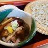 冬の蕎麦 牡蠣の天ぷらと鴨せいろ  松寿庵