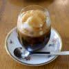 コーヒーゼリーのアフォガード  プレストコーヒー