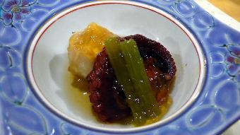 冷や鉢蛸柔らか煮六方小芋