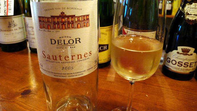 ボルドーの貴腐ワイン