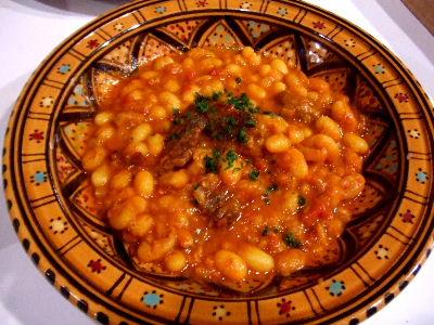 ルビア豆のタジン