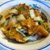 ワンタン放浪記58   ワンタンと鶏球飯(カイコーハン)  ジャンボチャイナ